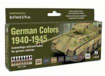 Vallejo 71206 Model Air Paint Set - German Colors 1940-1945 (8 x 17ml)