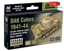 Vallejo 71207 Model Air Paint Set - DAK (Deutsches Afrika Korps) 1941-1944 (8 x 17 ml)