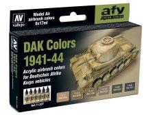 Vallejo 71207 Model Air Paint Set - DAK (Deutsches Afrika Korps) 1941-1944 (8 x 17 ml)
