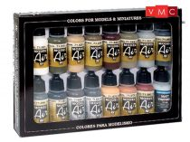 Vallejo 71208 Model Air Paint Set - WWII German Colors, Europe and Africa (16 x 17ml)