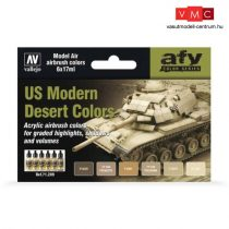 Vallejo 71209 Model Air Paint Set - US Modern Desert Colors (8 x 17ml)