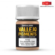 Vallejo 73102 Light Yellow Ochre (pigment) - 30 ml (Panzer Aces)