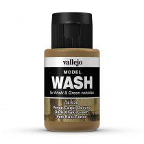 Vallejo 76520 Dark Khaki Green (model wash) - 35 ml (Panzer Aces)