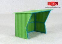 Vamitools 00045 Buszmegálló, zöld színben (H0) (305)
