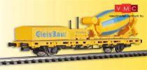 Viessmann 2624 H0 Alacsony oldalfalú teherkocsi mit Betonmischer GleisBau, Funktionsmodell fü