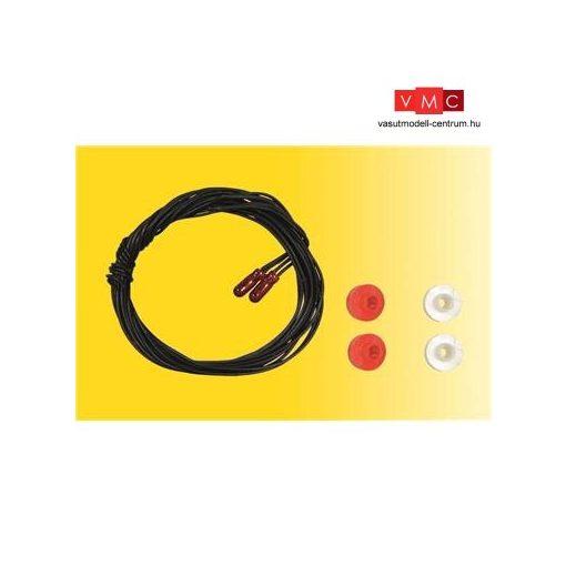 Viessmann 3508 Glühlampen rot T1/2, ? 1,8 mm, 16 V, 30 mA, 2 Kabel, 2 Stück