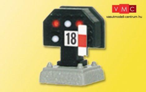 Viessmann 4018 Fény-vágányzárjelző, törpe kivitel (H0)