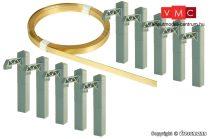 Viessmann 4195 Felsővezeték/munkavezeték oszlopokkal, alagútban való kiépítéshez (H0,TT
