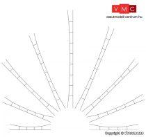 Viessmann 4251 Univerzális-felsővezeték/munkavezeték 124-138 mm/5 db (TT)