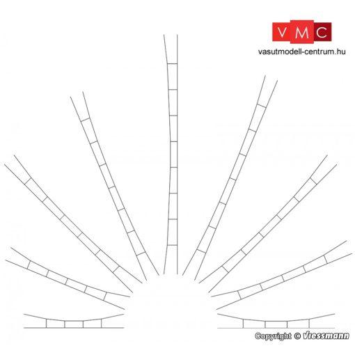 Viessmann 4256 Univerzális-felsővezeték/munkavezeték 218-239 mm/5 db (TT)