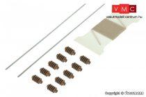 Viessmann 4276 Felsővezetéktartó sodronykötél, feszítés (gumispárga), szigetelőcsigák