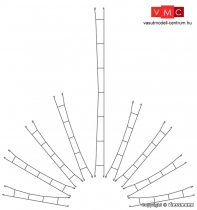 Viessmann 4332 Felsővezeték/munkavezeték 61,0 mm/5 db