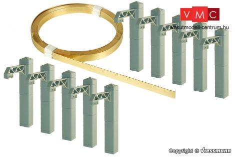 Viessmann 4395 Felsővezeték/munkavezeték oszlopokkal, alagútban való kiépítéshez