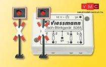 Viessmann 5060 Fénysorompó, német szabvány, 2 db, villogtató vezérlőmodullal