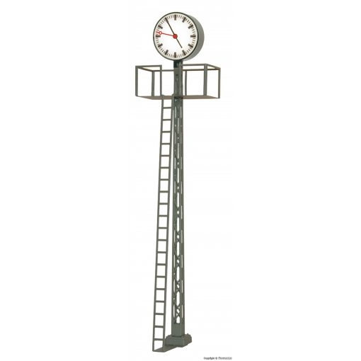 Viessmann 5082 Világító állomási óra, rácsos oszlopon, magas kivitel
