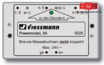 Viessmann 5225 Powermodul 5A, villogásmentes LED világításhoz