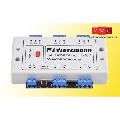 Viessmann 5280 Multiprotokoll kapcsoló és váltódekóder, DCC/MM