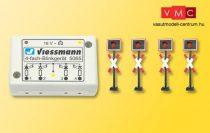 Viessmann 5835 Fénysorompó, 4 db, villogtató vezérlőmodullal