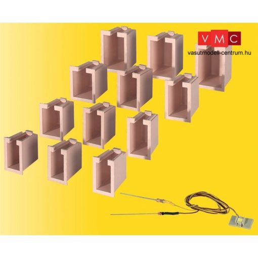 Viessmann 6005 Belső világítás épületekhez, 1 db fehér LED - ablakvilágítás (12 db ku