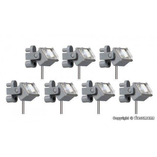 Viessmann 6339 Tetőreflektor tartókonzollal, Halle/Saale, 7 db fehér LED (H0)
