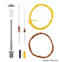 Viessmann 6621 Építőkészlet - Utcai lámpa, fehér LED