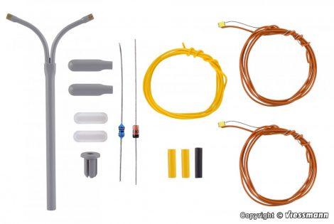 Viessmann 6623 Építőkészlet - Ostoros utcai lámpa, dupla