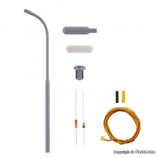 Viessmann 6722 Építőkészlet - Ostoros utcai lámpa, fehér LED