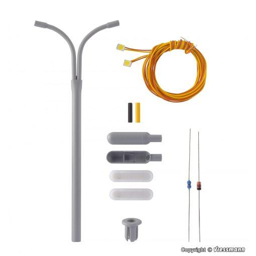 Viessmann 6723 Építőkészlet - Ostoros utcai lámpa, dupla