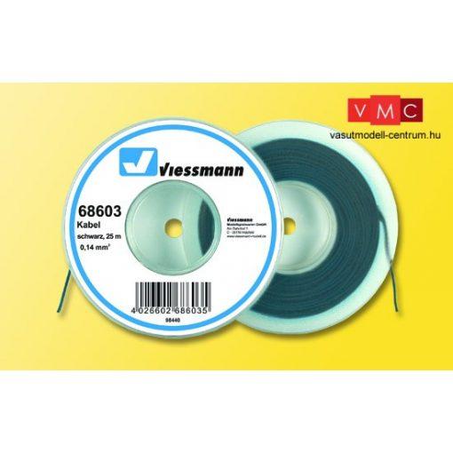 Viessmann 68603 Vezeték 25 m, 0,14 mm, fekete