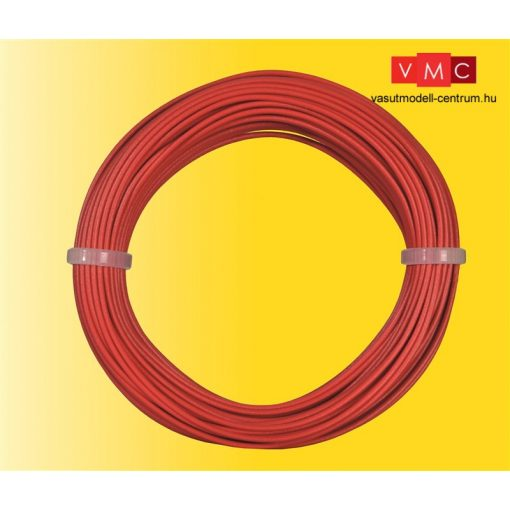 Viessmann 6863 Vezeték 10 m, 0,14 mm, piros