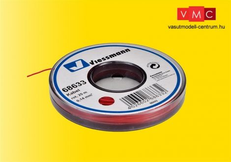 Viessmann 68633 Vezeték 25 m, 0,14 mm? piros