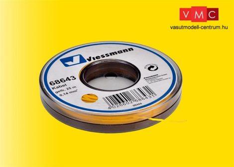 Viessmann 68643 Vezeték 25 m, 0,14 mm? sárga