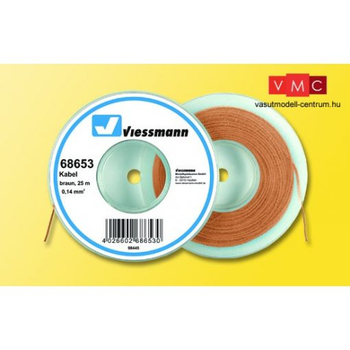 Viessmann 68653 Vezeték 25 m, 0,14 mm, barna