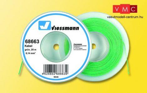 Viessmann 68663 Vezeték 25 m, 0,14 mm? zöld