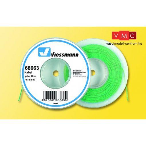 Viessmann 68663 Vezeték 25 m, 0,14 mm, zöld