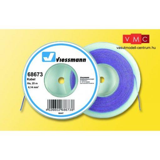 Viessmann 68673 Vezeték 25 m, 0,14 mm, lila