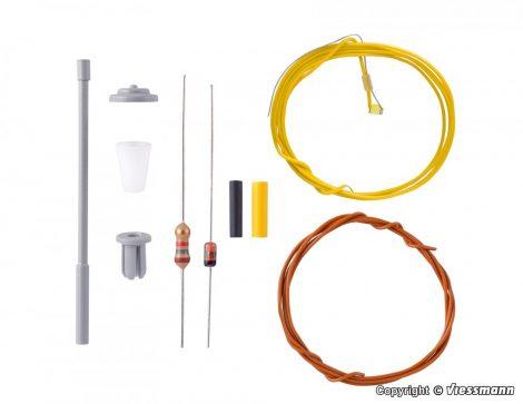 Viessmann 6921 Építőkészlet-Utcai lámpa, fehér LED