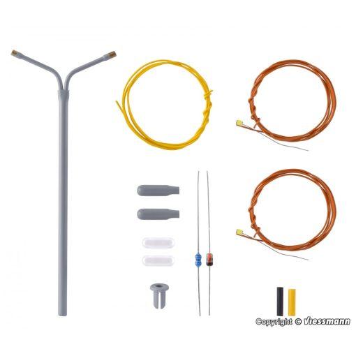 Viessmann 6923 Építőkészlet-Ostoros utcai lámpa, dupla