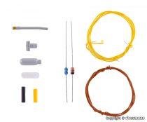 Viessmann 6925 Építőkészlet - Fali ipari lámpa - fehér LED (TT)