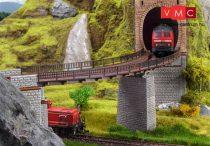 Vollmer 2547 Íves vasúti hídpálya, R 760 mm/376 mm hosszú (H0)