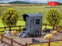 Vollmer 3742 Kerekes juhászbódé juhokkal, kerítéssel (H0)