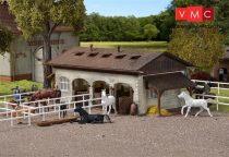 Vollmer 3790 Istálló kerítéssel, lovakkal (H0)