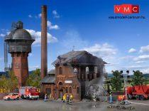 Vollmer 5601 Kigyulladt gyárépület villogó vörös fénnyel (H0)