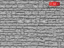 Vollmer 6031 Dekorlap: Falazott kőfal, műanyag (H0)