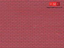 Vollmer 6033 Dekorlap: Klinkertégla, műanyag (H0)