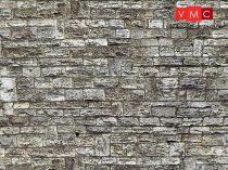 Vollmer 6035 Dekorlap: Falazott kőfal, karton (H0)