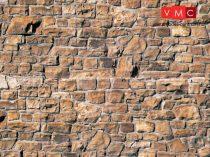 Vollmer 6036 Dekorlap: Kőfal, karton (H0)