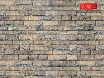 Vollmer 6038 Dekorlap: Kőfal - bazalt, karton (H0)