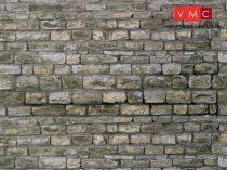 Vollmer 6040 Dekorlap: Kőfal - gránit, karton (H0)