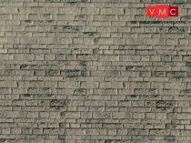 Vollmer 6049 Dekorlap: Falazott kőfal, karton (H0)